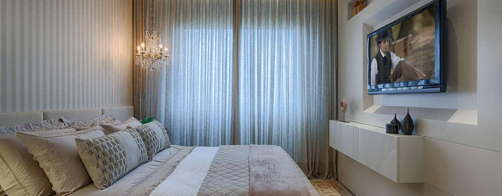 ห้องนอน by Emmanuelle Eduardo Arquitetura e Interiores