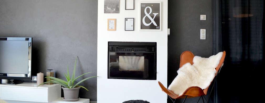 modern Living room by SAMANTHA DECORATION