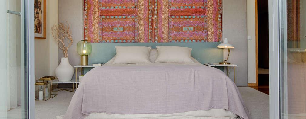 Casa em Leça da Palmeira: Quartos ecléticos por SHI Studio, Sheila Moura Azevedo Interior Design