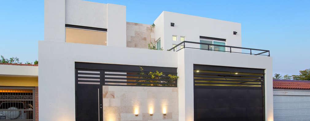 10 rejas y portones que har n lucir tu fachada for Fachada de casas modernas con porton