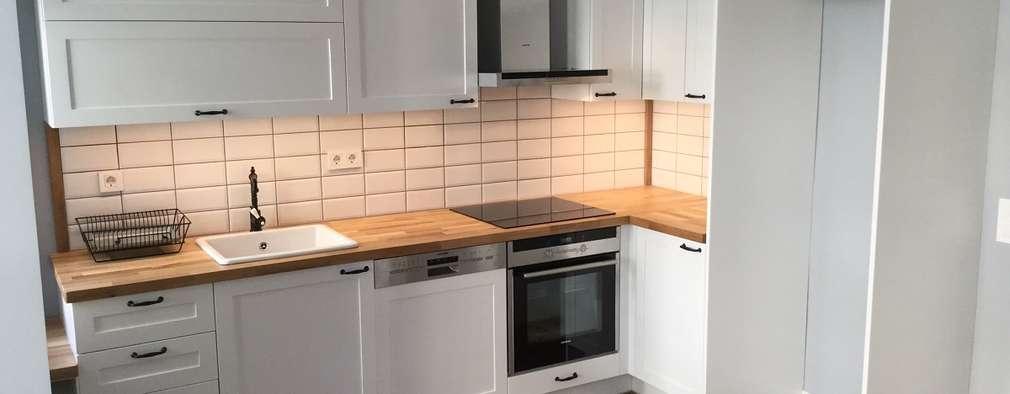 cocinas de estilo escandinavo por plano mimarlk ve teknoloji