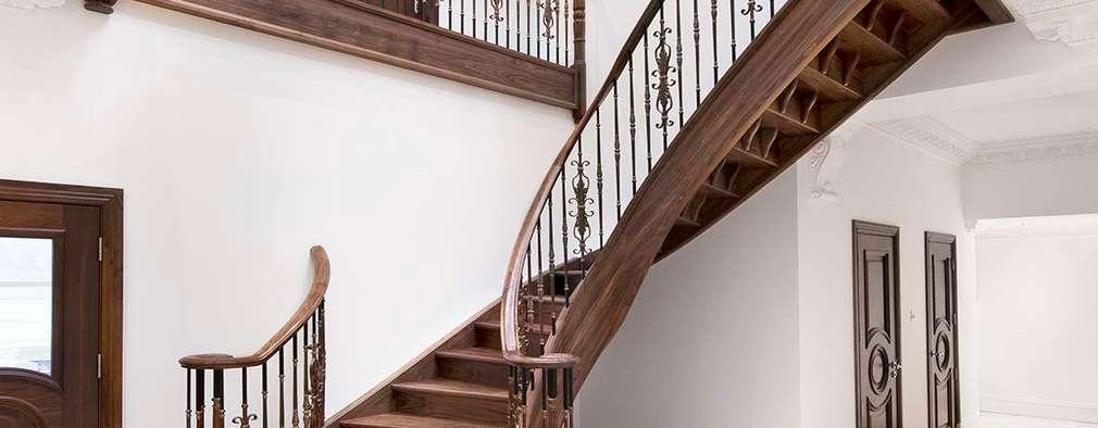 Projekty,  Korytarz, przedpokój i schody zaprojektowane przez Smet UK - Staircases