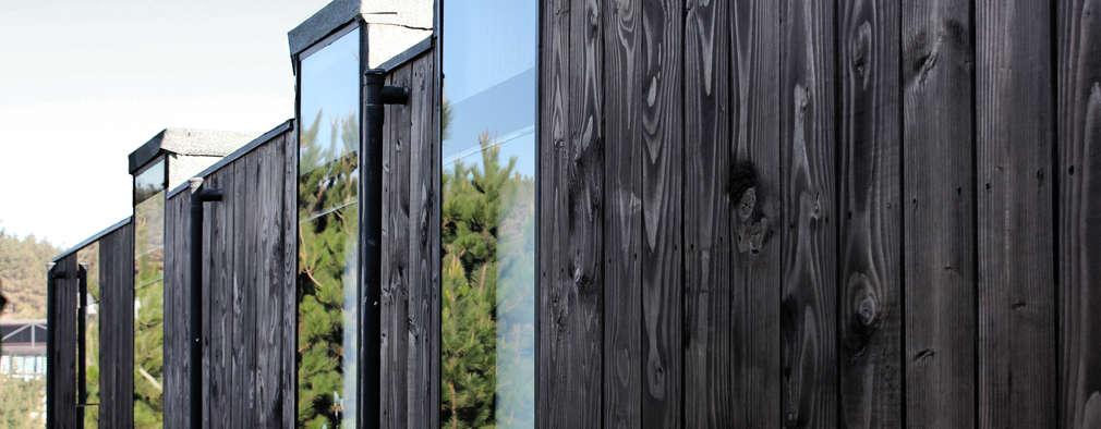 CASA RO: Ventanas de estilo  por ALIWEN arquitectura & construcción sustentable
