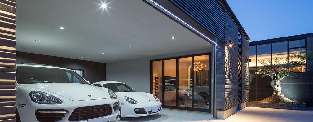 modern Garage/shed by 一級建築士事務所  馬場建築設計事務所