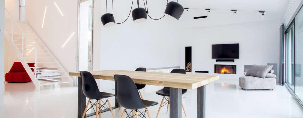 Livings de estilo minimalista por CABRÉ I DÍAZ ARQUITECTES
