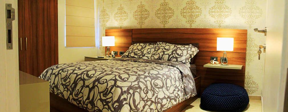 Projekty,  Sypialnia zaprojektowane przez JAVC ARQUITECTOS S.C