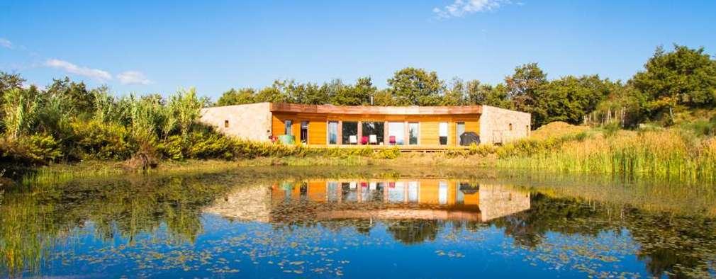 Projekty, nowoczesne Domy zaprojektowane przez Technowood srl