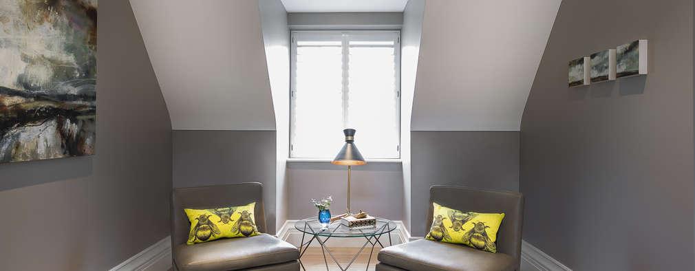Pasillos y hall de entrada de estilo  por Emma Hooton Ltd