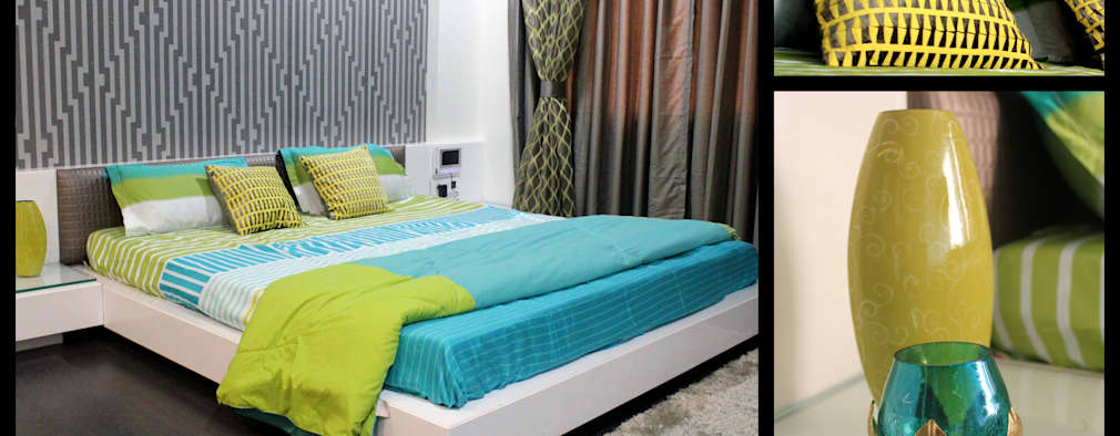 Mr. Sharma House: modern Bedroom by Extrude Architects & Interior Designers