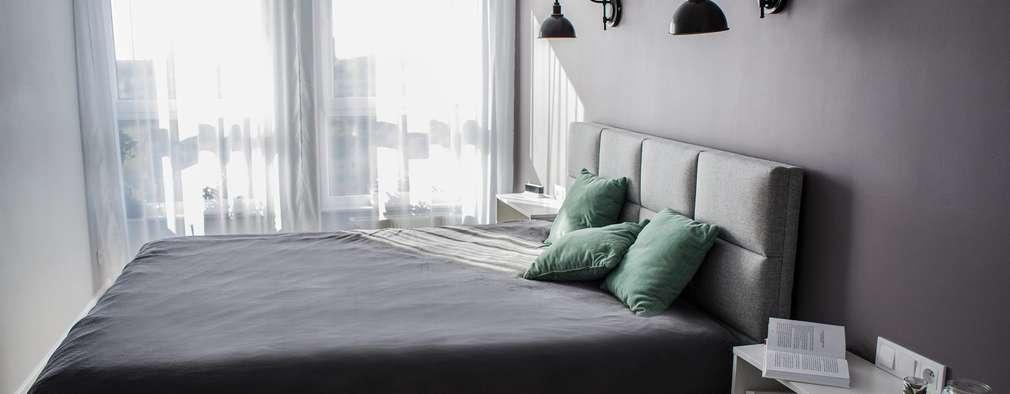 Mint & Grey: styl , w kategorii Sypialnia zaprojektowany przez Pika Design
