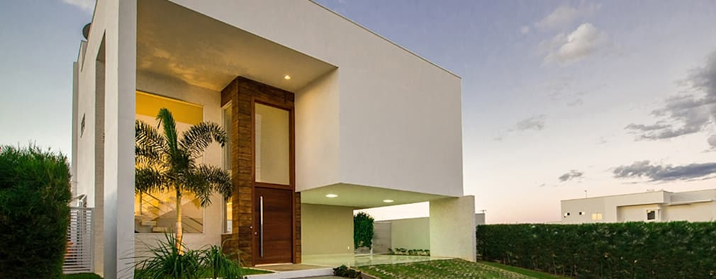 Projekty, minimalistyczne Domy zaprojektowane przez Duo Arquitetura