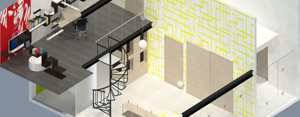 Recámara Niño: Recámaras infantiles de estilo ecléctico por Molcajete Arquitectura Interiores Diseño