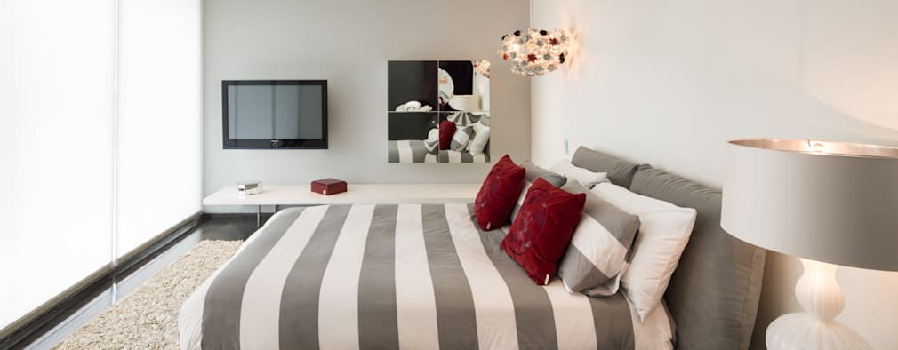 modern Bedroom by Línea Vertical