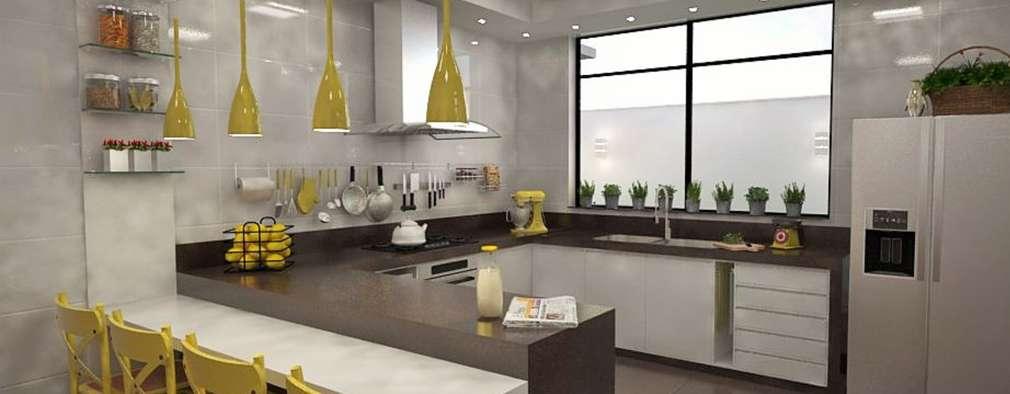 Кухни в . Автор – Ao Cubo Arquitetura e Interiores