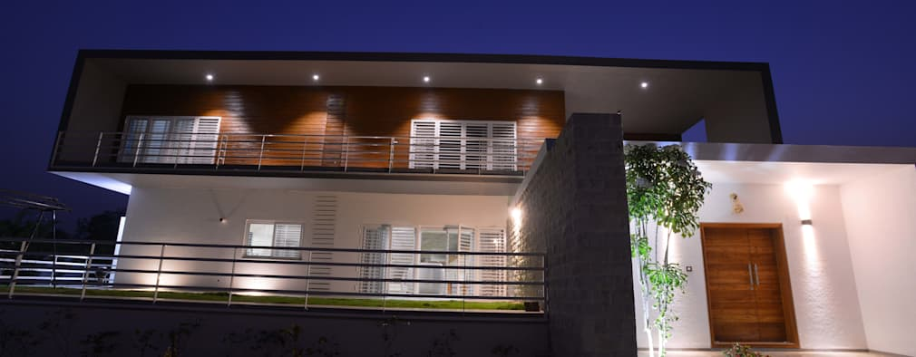 Hung-over Residence: modern Houses by Urban Tree