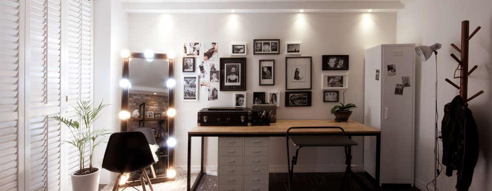 Projekty,  Salon zaprojektowane przez 디자인투플라이