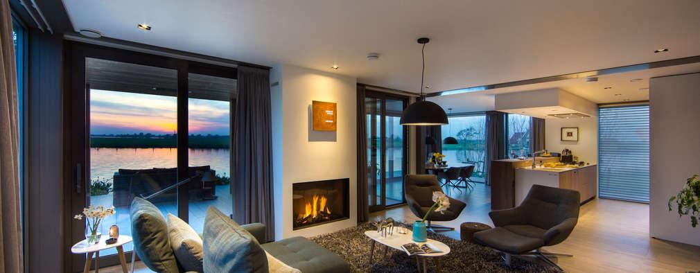 Гостиная в . Автор – DENOLDERVLEUGELS Architects & Associates
