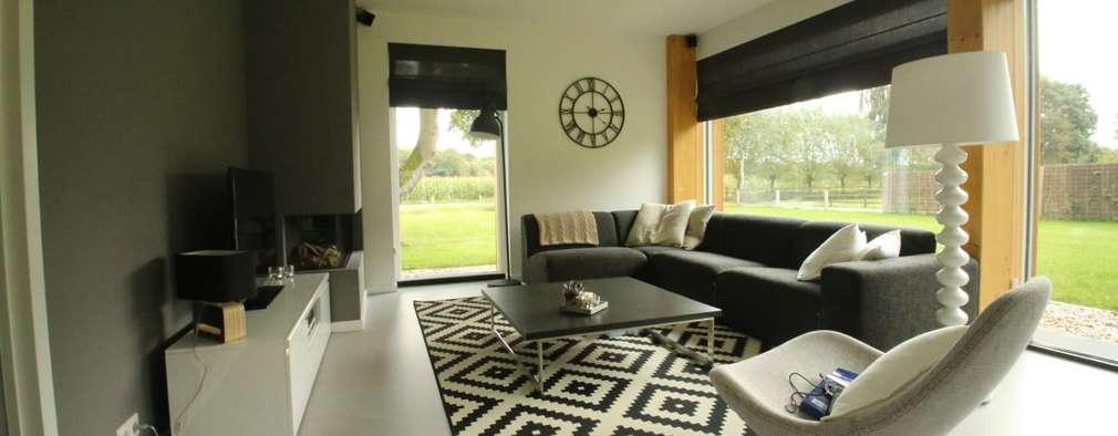 Projekty,  Salon zaprojektowane przez STUDIO = architectuur