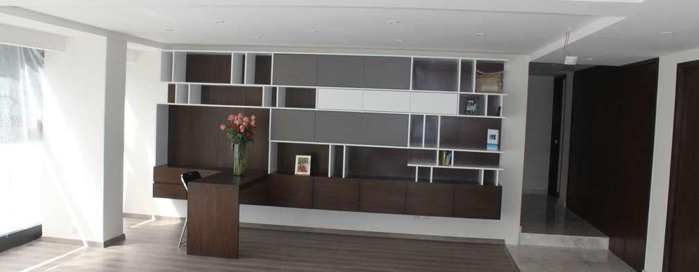 Oficinas de estilo moderno por IARKITECTURA