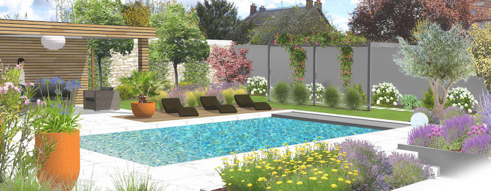 8 desain kebun yang cantik. Black Bedroom Furniture Sets. Home Design Ideas