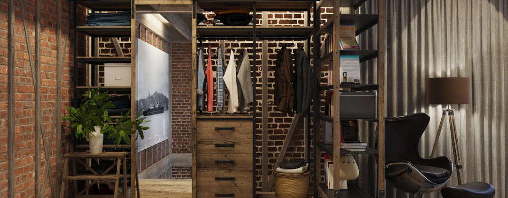 غرفة الملابس تنفيذ Anton Medvedev Interiors