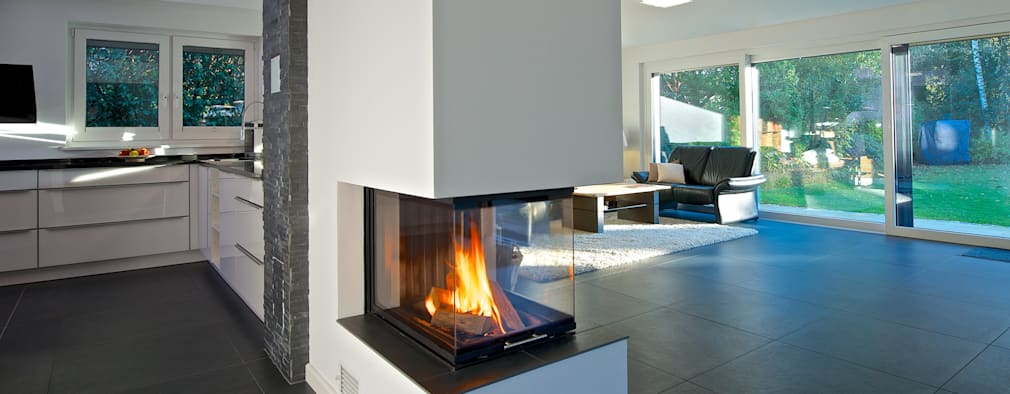 modern Living room by GRID architektur + design