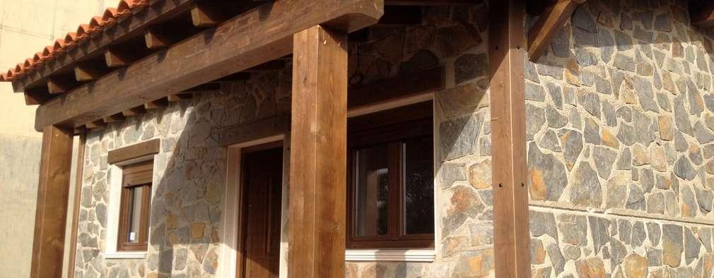 Projekty, rustykalne Domy zaprojektowane przez MODULAR HOME