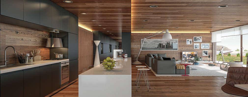 Casas de estilo moderno por Matos Architects