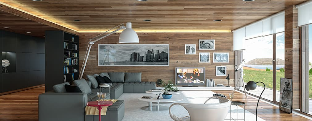 modern Living room by Matos Architects