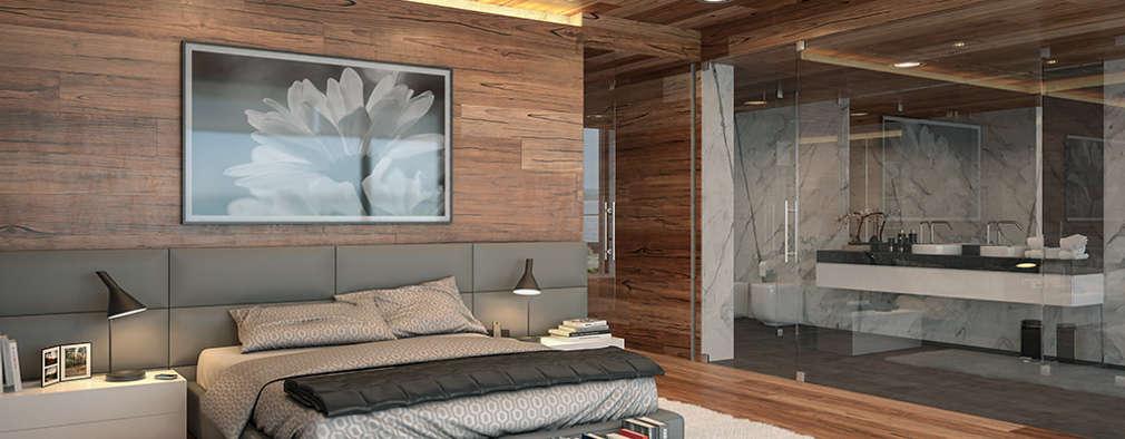 Cuartos de estilo moderno por Matos Architects