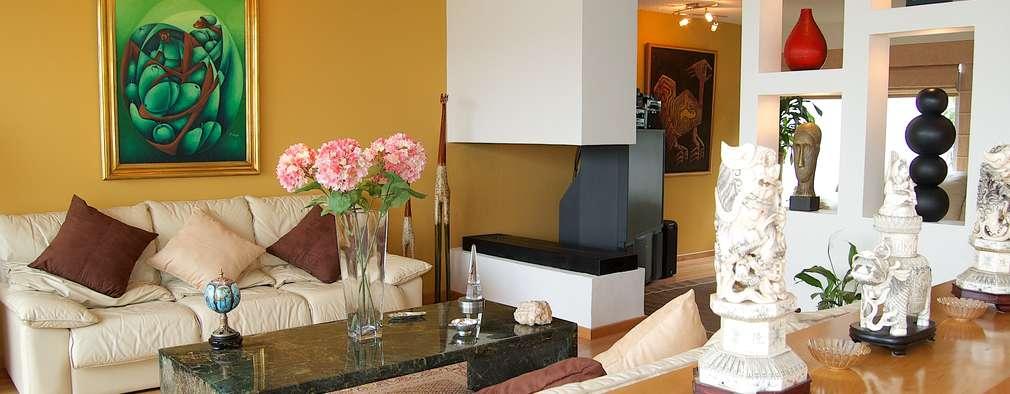 A todo color 10 ideas para pintar las paredes de tu sala for Pintura color ocre claro