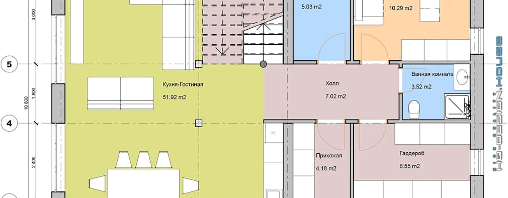 План I-го этажа:  в . Автор – hq-design