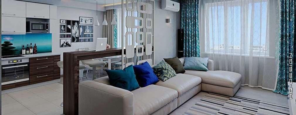 Salas / recibidores de estilo moderno por hq-design