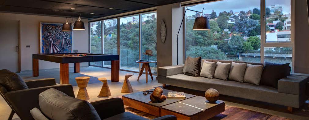 Salas de entretenimiento de estilo moderno por RIMA Arquitectura