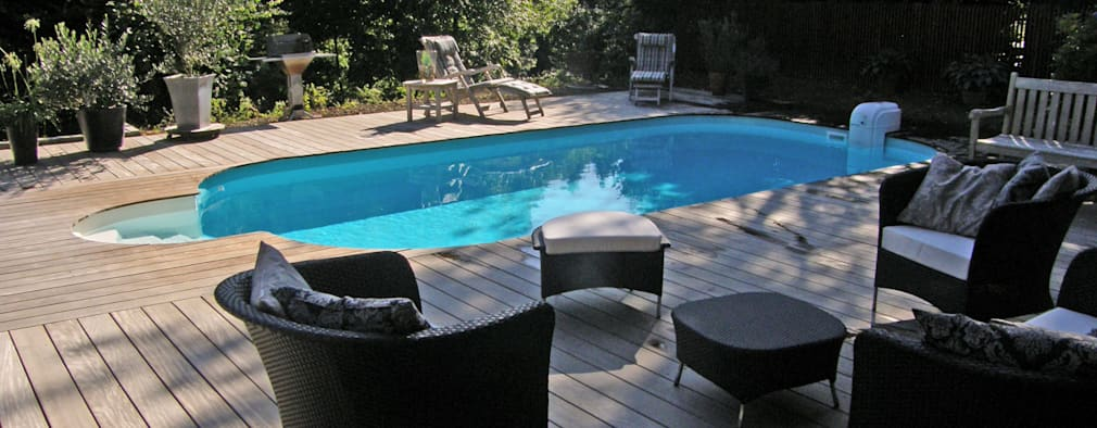 Een mega cool zwembad in de tuin for Afmetingen zwembad tuin