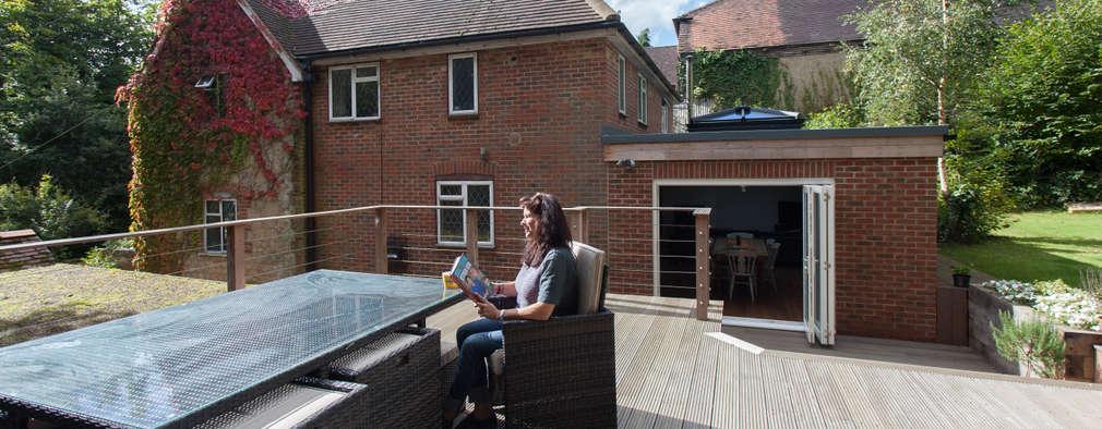 Voor en na oud huis krijgt uitbreiding en nieuwe tuin - Gerenoveerd huis voor na ...