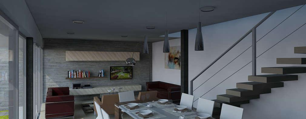 CCA arquitectos: modern tarz Yemek Odası