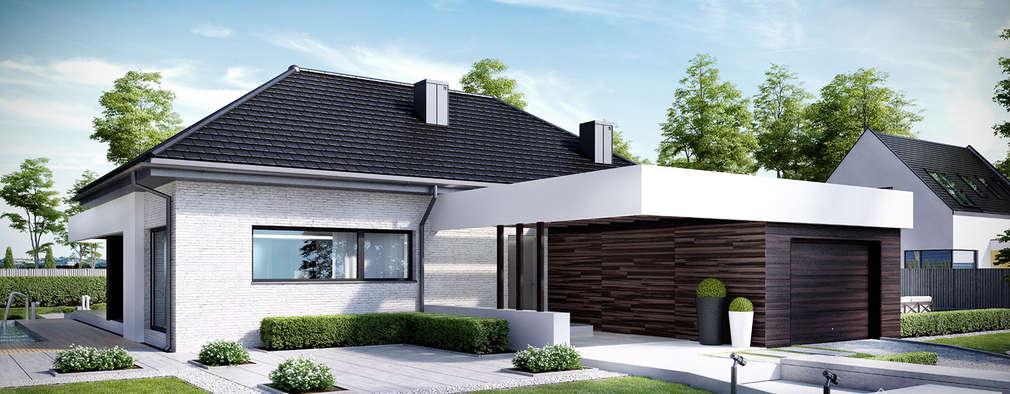 HomeKONCEPT-32: styl nowoczesne, w kategorii Domy zaprojektowany przez HomeKONCEPT | Projekty Domów Nowoczesnych