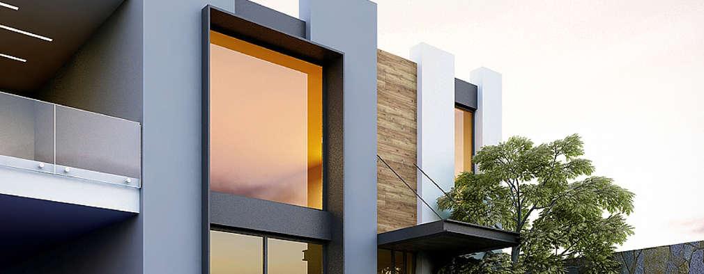 Projekty, minimalistyczne Domy zaprojektowane przez Besana Studio