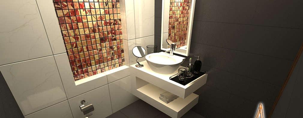daughter bathroom: modern Bathroom by A Mans Creation