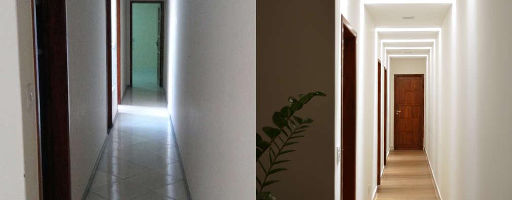 Pasillos y recibidores de estilo  por CARDOSO CHOUZA ARQUITETOS