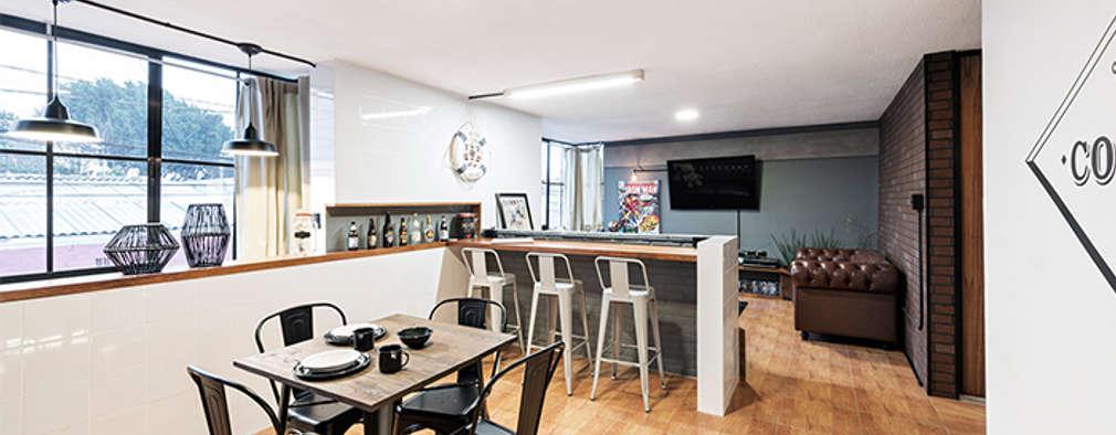 Estancia Prados#2: Comedores de estilo industrial por MX Taller de Arquitectura & Diseño