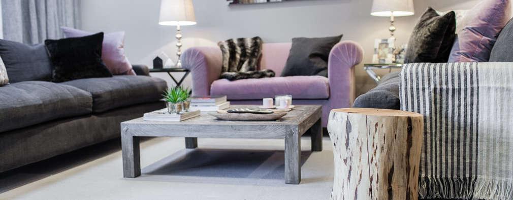 غرفة المعيشة تنفيذ Lauren Gilberthorpe Interiors
