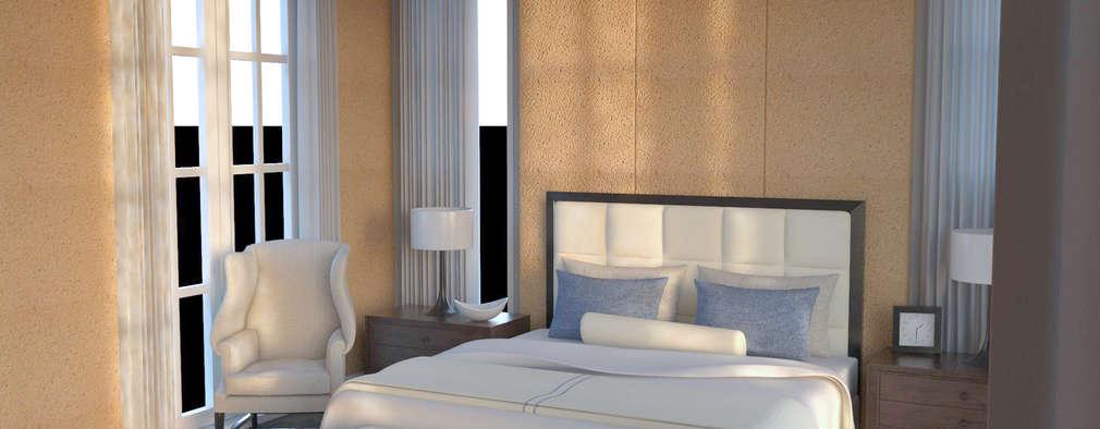 Habitaciones de estilo moderno por PROYECTARQ | ARQUITECTOS