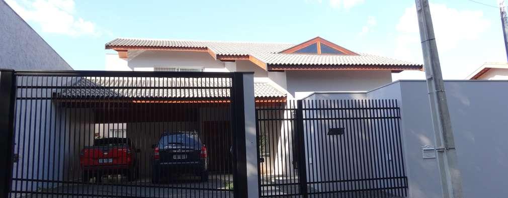 Casas de estilo  por canatelli arquitetura e design