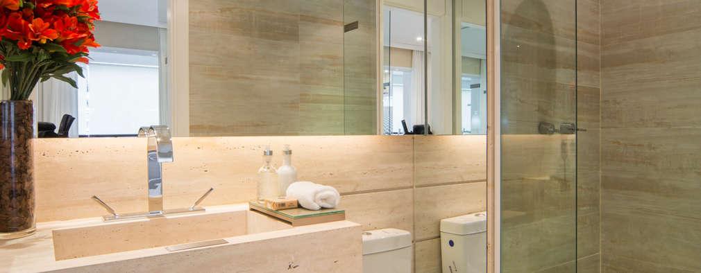 浴室 by Chris Silveira & Arquitetos Associados
