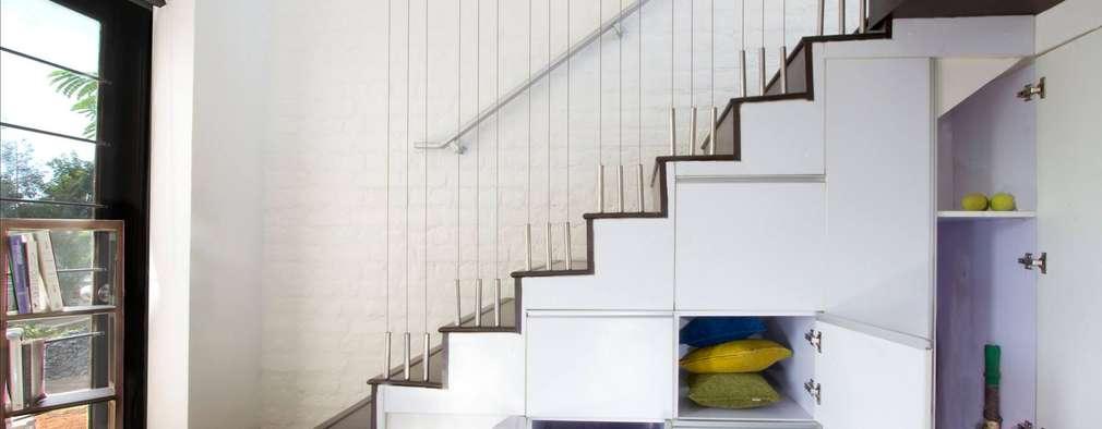 15 escaleras compactas y perfectas para casas peque as - Cajoneras para exterior ...