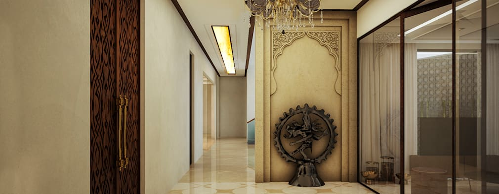 POOJA ROOM: modern Living room by 23DC Architects