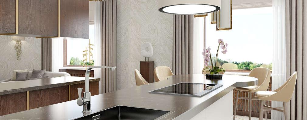 Квартира на ул. Маршала Жукова: Кухни в . Автор – Porterouge Interiors \ Krasnye Vorota
