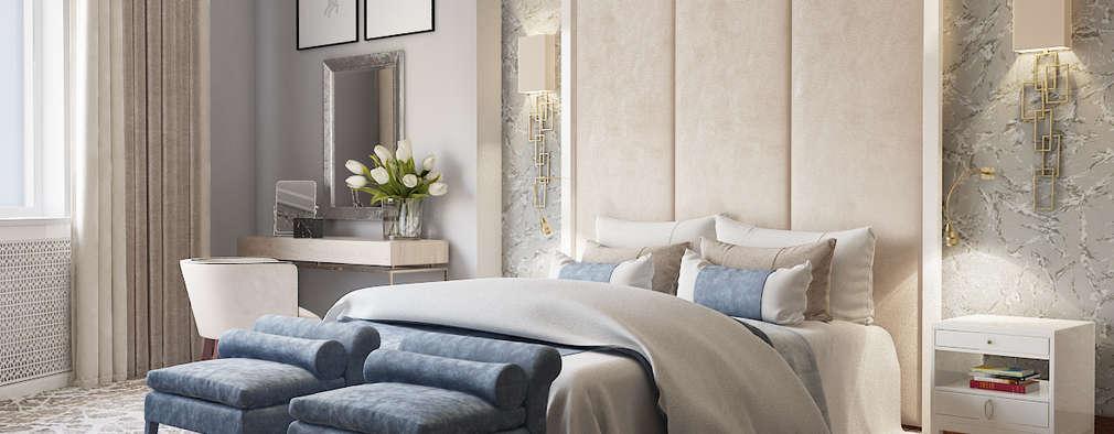 Квартира на ул. Маршала Жукова: Спальни в . Автор – Porterouge Interiors \ Krasnye Vorota
